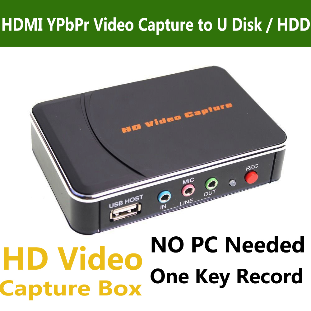 Genuine Ezcap 280 HD Game Video Capture Box HDMI YPbPr Recorder For Xbox PS3 PS4 TV STB Video Camera Medical Video Recording(China (Mainland))