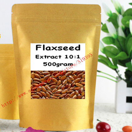 Flaxseed Extract 10:1 Powder 500gram free shipping<br><br>Aliexpress