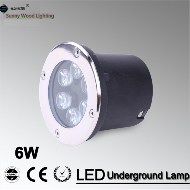 Free shipping LED underground lamps 6W inground light,ip67 built in outdoor lighting AC85-265V LUL-A-6W 3years warranty(China (Mainland))