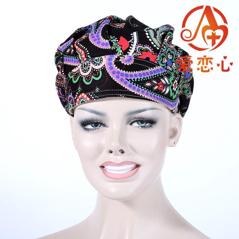 100% cottonscrub hats women surgical caps  ALX-150