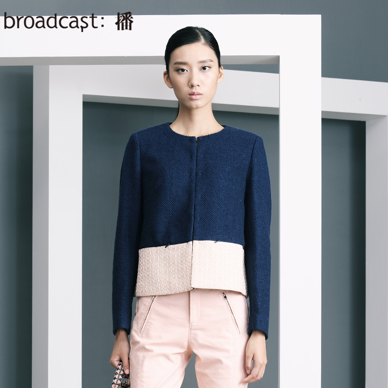 Free Shipping Broadcast mantianxing florid new arrival formal ol wool short jacket female coat BDH1WA0395(China (Mainland))