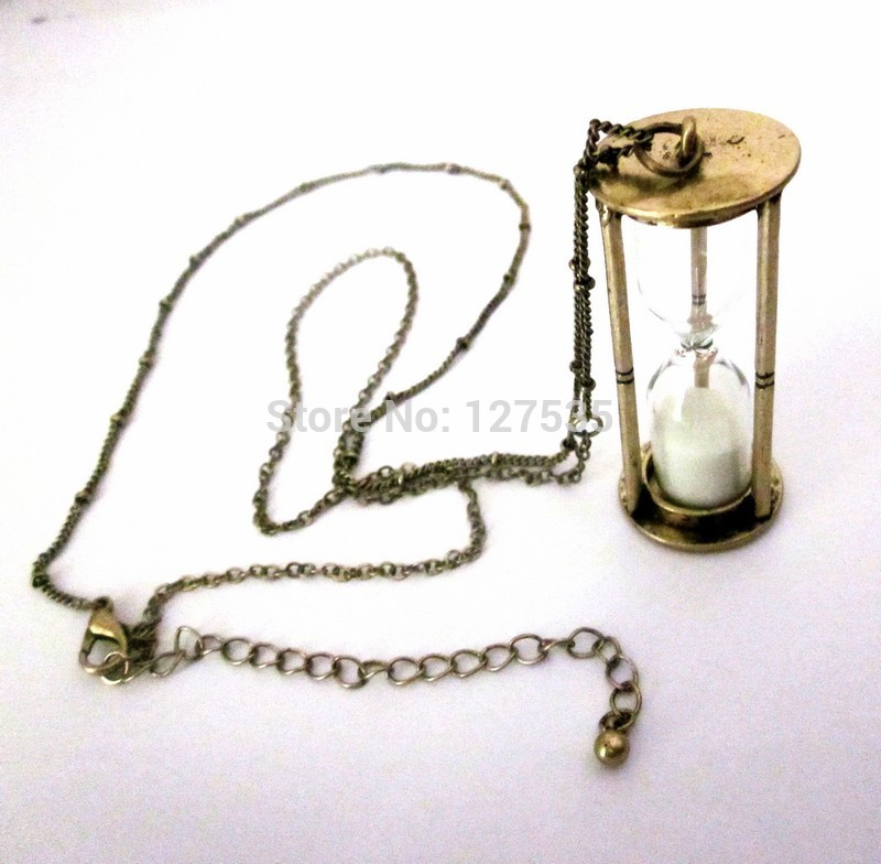 fashion jewelry accessories vintage hourglass big pendant chain necklace(China (Mainland))
