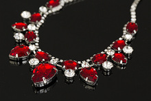 2016 TOP Pendants Necklace For Women Exquisite Rhinestone Pendant Necklace Fashion Collar Necklace Jewelry red carpet