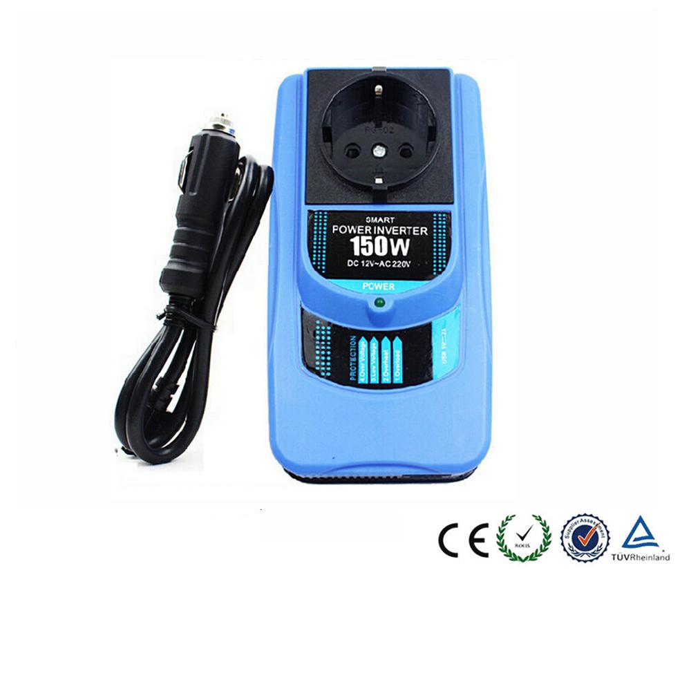 EU Car Power Inverter Adapter Solar Energy Sine Wave DC 12V AC 220V 150W USB 5V 2.1A Car Power Inverter With USB Port CY274-CN(China (Mainland))