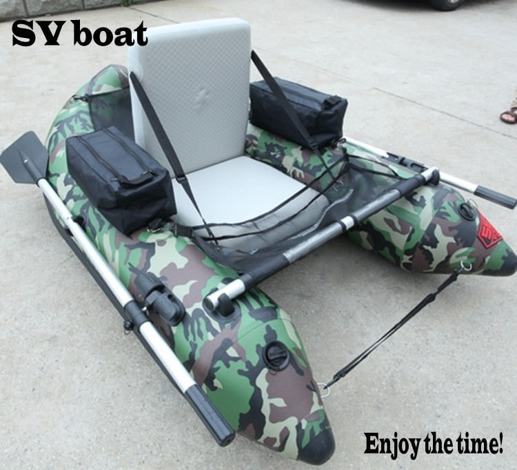 Best inflatable boat for individual belly boat camouflage color PVC(China (Mainland))