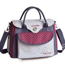 Bag For Baby Strollers Diaper/Nappy Mummy Travel Care bag Dot Maternity Expectant Pregnant Bag Women Messenger Shoulder Ladies