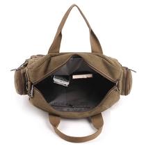 Hot Brand Leather Canvas Men Travel Bags Fashion Business Men Shoulder Bags Leisure Laptop Solid Men