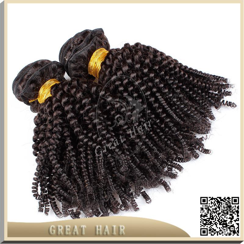 Great Hair 100% unprocessed 6a virgin Mongolian hair kinky curly cheap Mongolian hair 3 pcs virgin Mongolian hair weave()