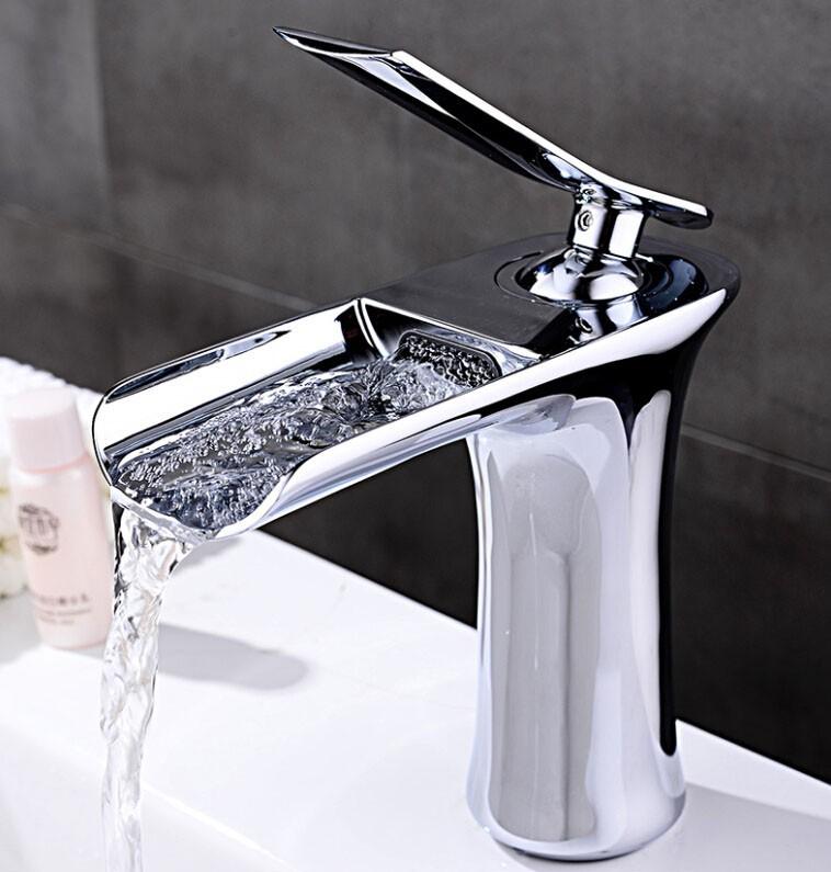 Free Shipping Bathroom Lavatory Basin Vessel Sink Vanity Tops tall brass Tap Banheiro Torneira Lavabo Ducha BF015(China (Mainland))