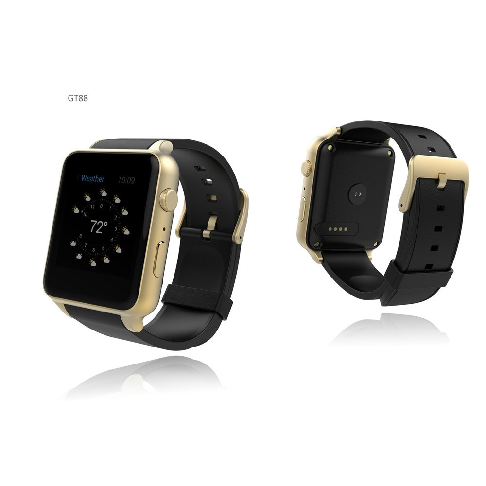 Bluetooth Smart Watch SmartWatch SW88 Heart Rate Measure Health Fitness Monitor with GSM GPRS SIM Card