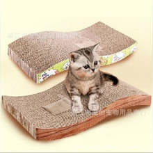 High Quality Cat Toy Cat Kitten Scratch Board Pad Scratcher Bed Mat Claws Care Toys For Cats(China (Mainland))
