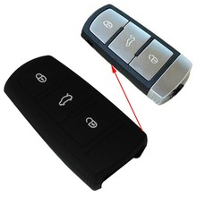 Black Silicone Remote Case Cover Holder Protecting Bag Fit For VW 3 Buttons Smart Key B6 B7 Magotan Passat CC