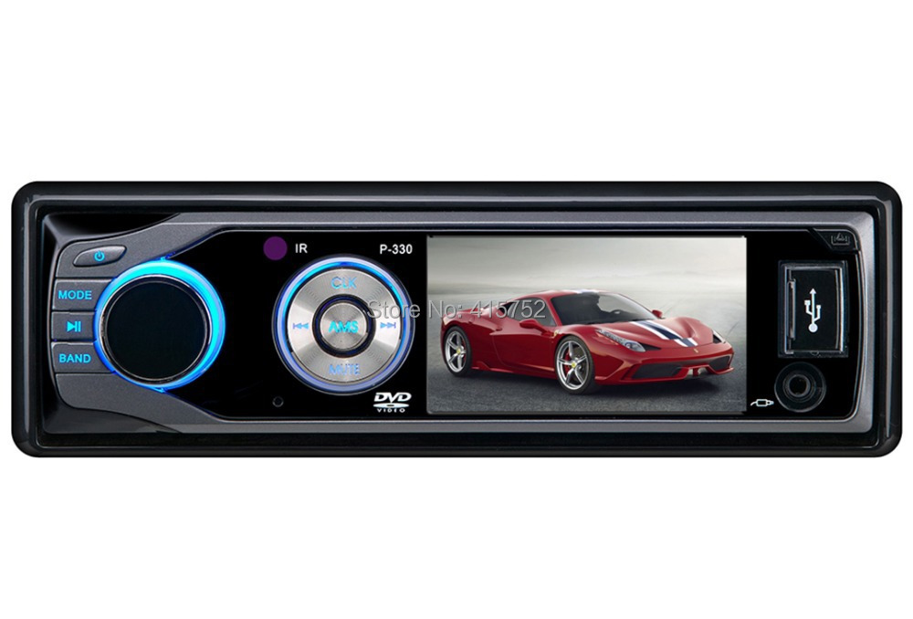 Free Shipping 3inch 1 Din Car DVD Player Single Din Car Radio Stereo detachable panel with SD/USB(China (Mainland))