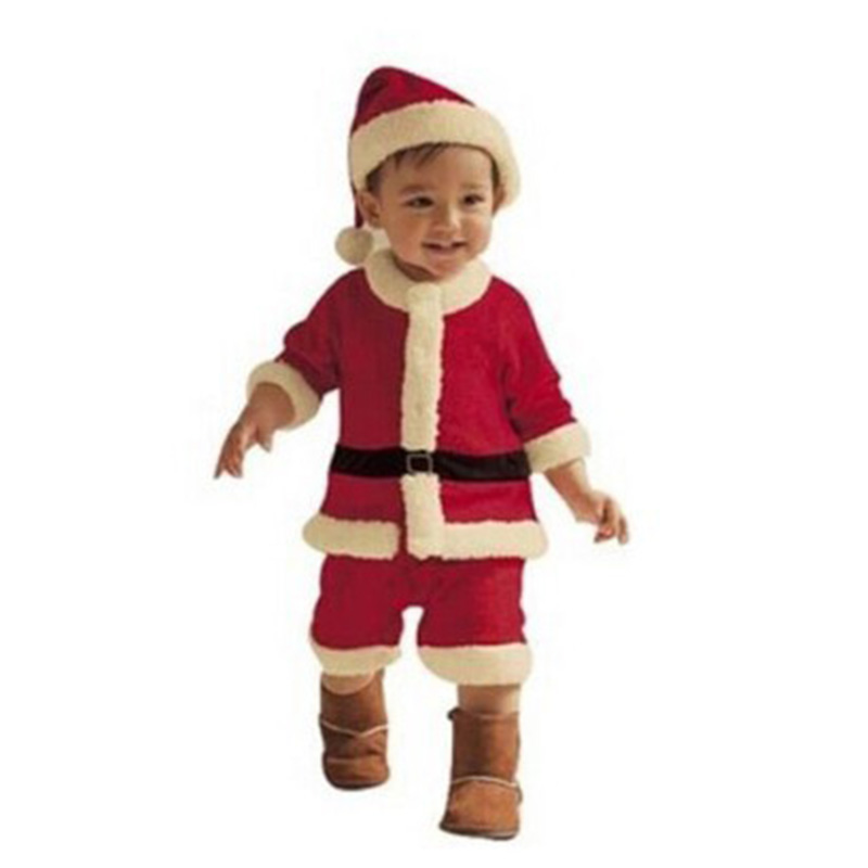 Baby Christmas Clothes Outfits Boys Santa Clothes Dress Children Overalls Girls Kids Christmas Dress Plus A Hat B16 EE(China (Mainland))