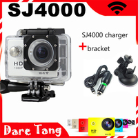 SJ4000 WIFI Sport Action Camera 1080p Full HD Waterproof Camera 1080P Sport DV gopro camera gopro hero 4 camara +Car Charger