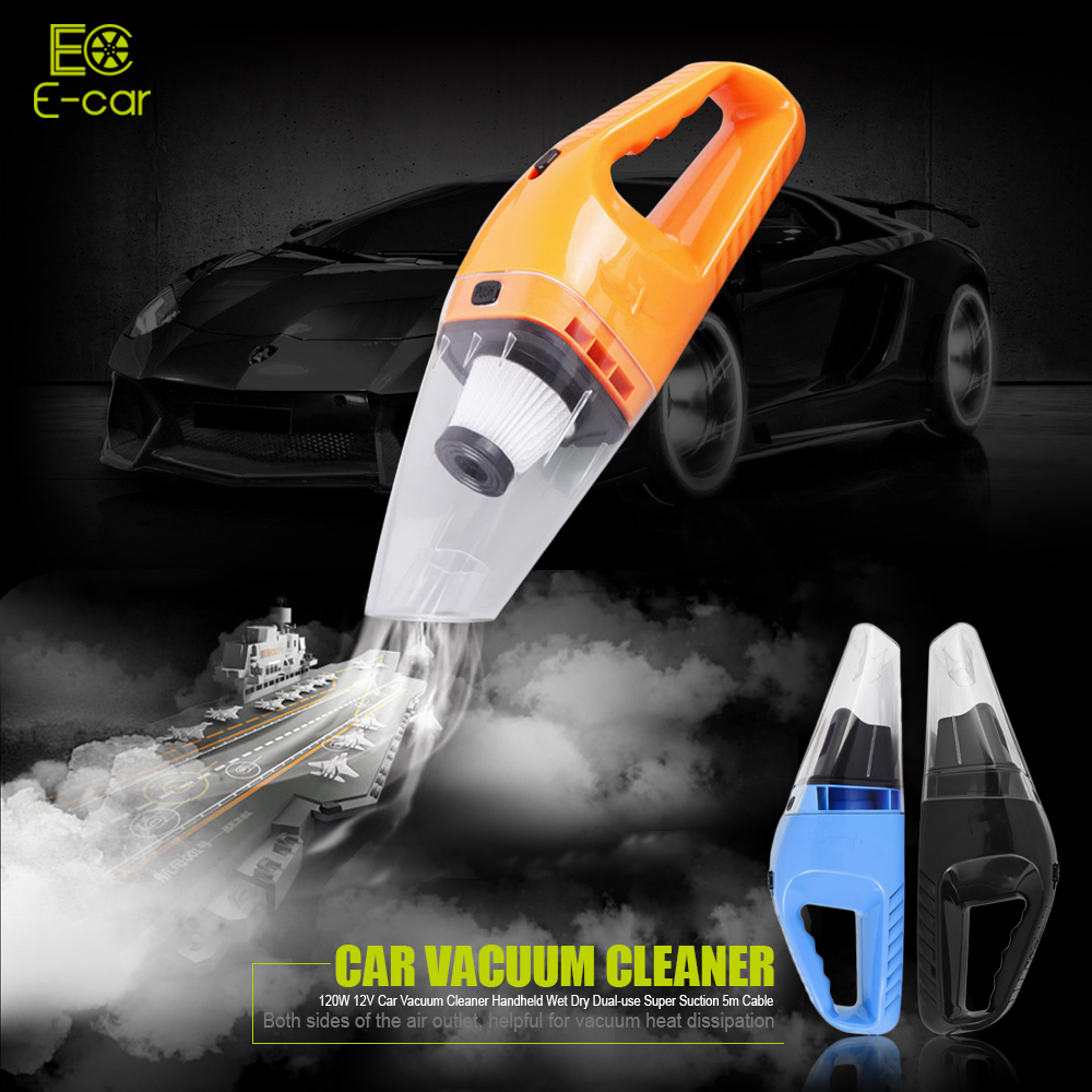New 120W 12V Car Vacuum Cleaner Handheld Mini Vacuum Cleaner Super Wet And Dry Dual Use Handheld Vacuum Cleaner(China (Mainland))