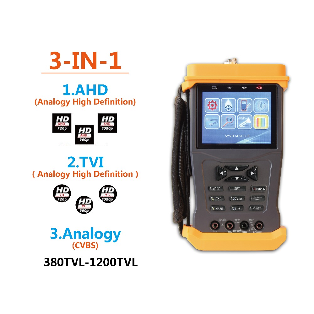 895P AHD TVI CVBS Cameras test Monitor ,Video Audio Test, PTZ control,optical power meter,1080P, 12V 1A power Out CCTV Tester.(China (Mainland))