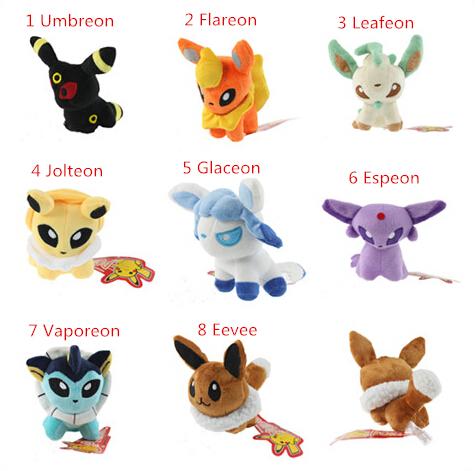 Гаджет  New Coming  Pokemon Plush Toys  Umbreon Eevee Espeon Jolteon Vaporeon Flareon Glaceon Leafeon Animals Soft Stuffed None Игрушки и Хобби