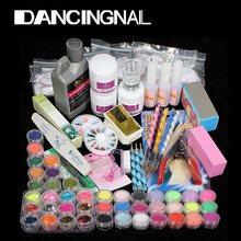 New Arrived Nail Art Set Acrylic Liquid Glitter Powder File Brush Form Nail Art Tips Tools DIY Kit Primer Beauty Tools(China (Mainland))