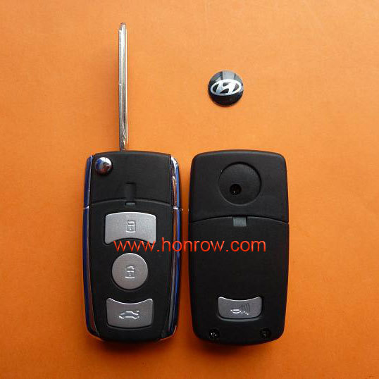 Hyundai 3 button modified flip remote ank key blank with free shipping