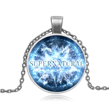 2016 New Design Supernatural Jewelry Cool Round Pentagram Photo Glass Dome Pendant Necklace