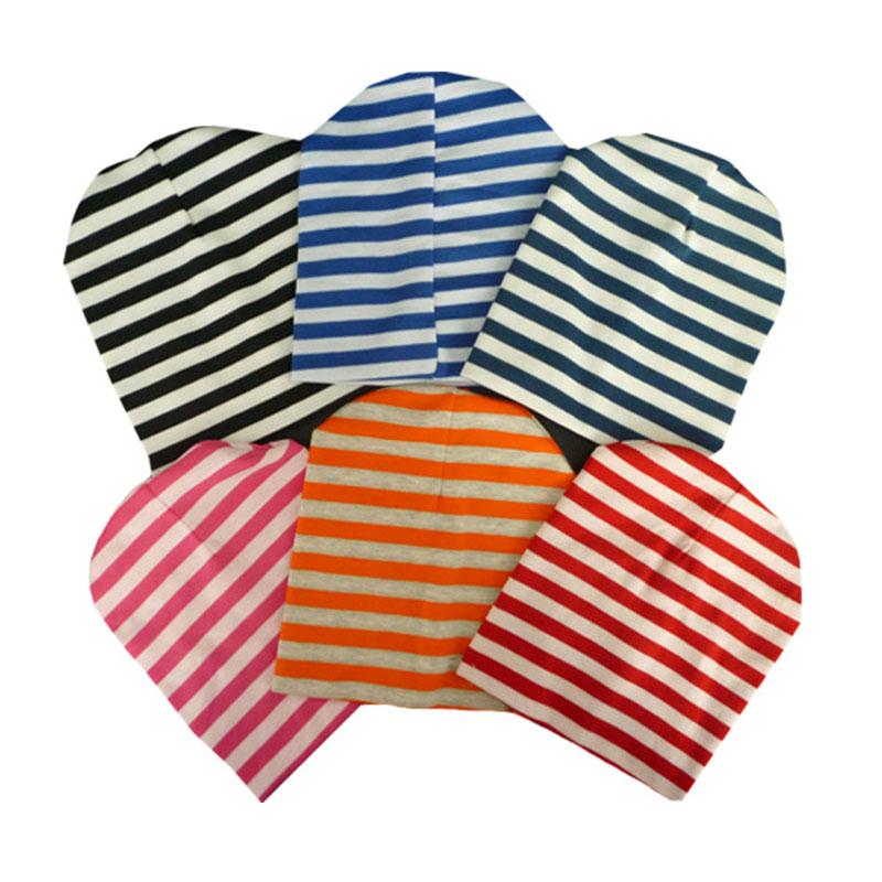 Newborn Baby Stripe Printed Knitted Beanies, Kids Winter Autumn baby Hat, knitted baby hats, Elasticity Baby Cap(China (Mainland))