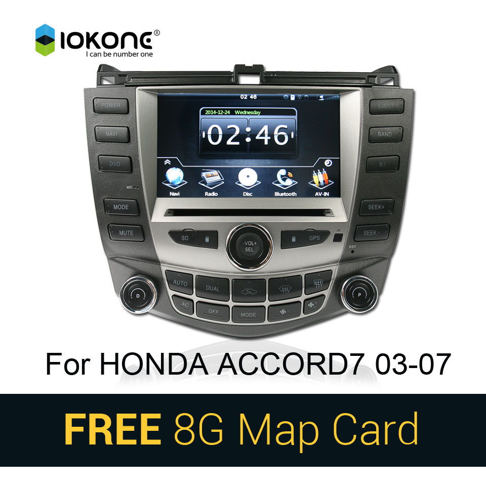 Car CD DVD Video Player Autoradio GPS Stereo for Honda Accord 7 2003 2004 2005 2006 2007 Dual A/C with Bluetooth GPS SWC SD card(China (Mainland))