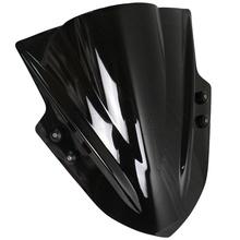 Buy Universal Motorcycle Street Bikes Windshield Windscreen Yamaha XJ6 XJ6N XJ FZ1 FZ1N FZ6 S2 FZ8 FZ 6 8 Black Clear Iridium for $47.79 in AliExpress store