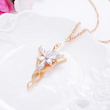 2015 sterling silver jewelry fashion Crystal necklaces for women Wizard Princess Arwen Evenstar Pendant Necklace Evening