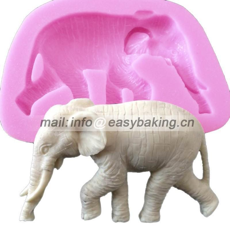 Cake Decorating Animal Molds : Cartoon 3D Animal Elephant Silicone Mold Cake Decorating ...
