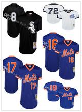 100% Stitched Men's Carlton Fisk Bo Jackson jersey Darryl Strawberry Keith Hernandez Dwight Gooden Baseball Jerseys(China (Mainland))