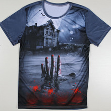 Summer Cheap T shirts New Short Sleeve Man T Shirts Skull Terror Stimulation Attack On Titan
