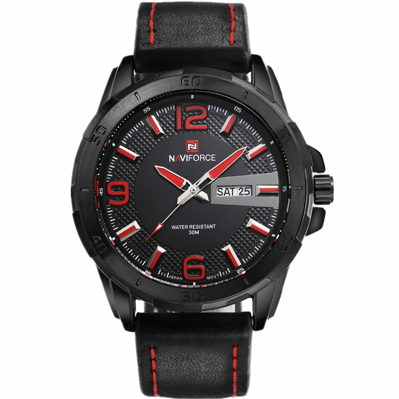 Reloj hombre 2015 Brand Men Military Watches Leather Double Calendar Men Casual Quartz Watch NAVIFORCE 9055 relogio masculino<br><br>Aliexpress