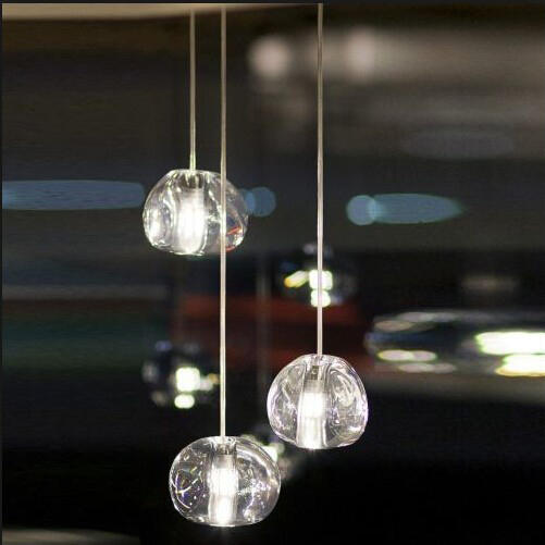 Mizu 3 Balls Clear Crystal Ball Transparent Gold Pendant