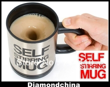 Fast Delivery – Originality Automatic Self Stirring Coffee Cup Coffee Mug Stainless Electic Coffee Mug + Retail Packaging