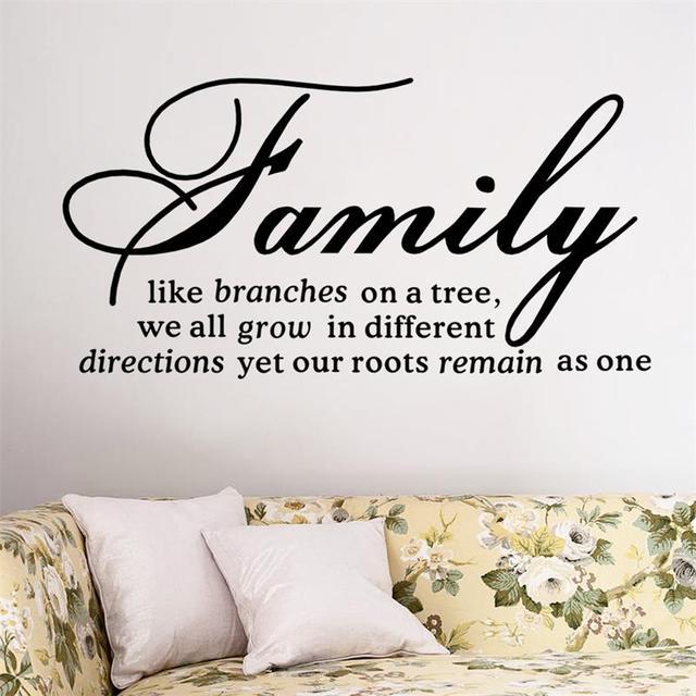 Семья как ветви на дереве наклейки стены домашнего декора DIY съемный искусство виниловые наклейки наклейки 8082 дома настенной росписи украшения