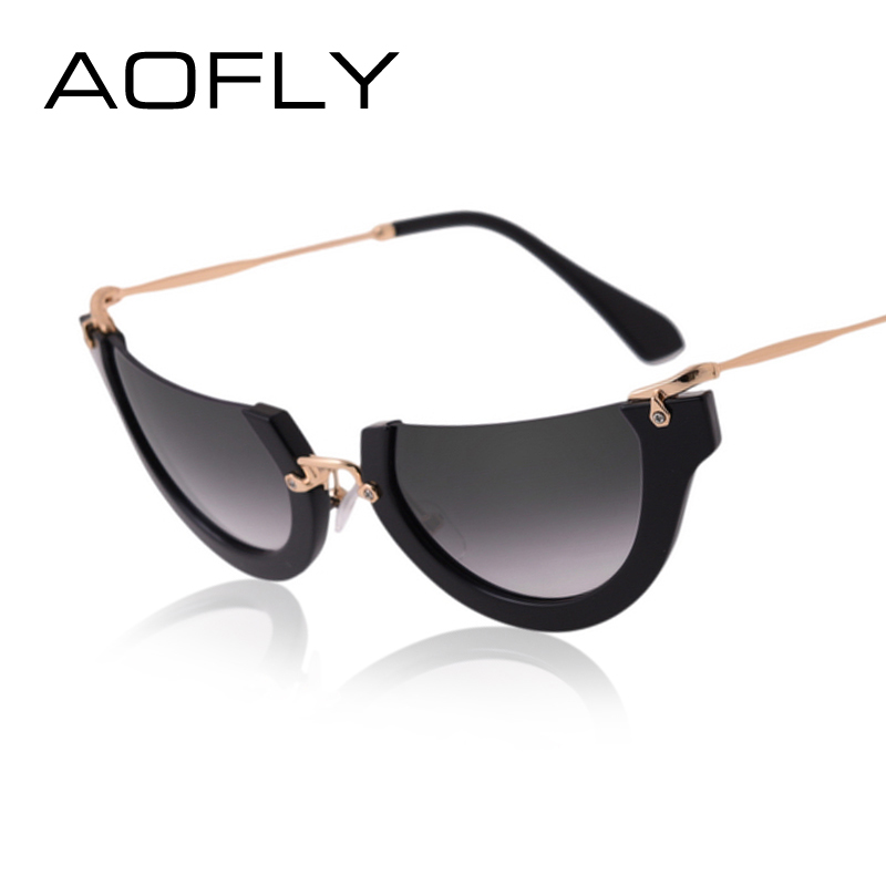 Rimless Cat Eye Glasses : Aliexpress.com : Buy AOFLY Fashion Sunglasses Cat Eye Sun ...