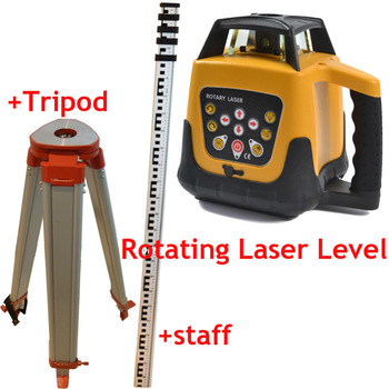 New Update Self-leveling Rotary/ Rotating Laser Level +Tripod+staff, 500m range,Red Beam, good quality and lower price A2