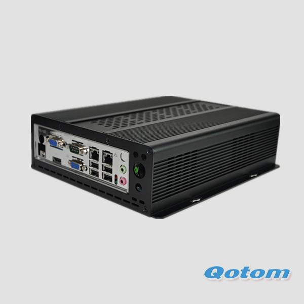 X86 mini pc dual lan 7 serial ports, linux ubuntu mini pc windows xp, portable linux mini pc server QOTOM-I37C7, mini pc 1037u(China (Mainland))