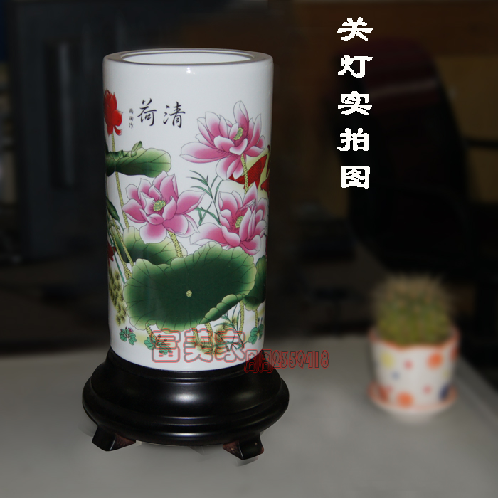 Chinese style lighting lamps classical eggshell tothekind , porcelain ofhead table lamp(China (Mainland))