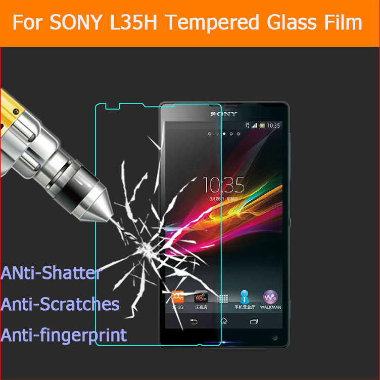 Hot 0 26mm 2 5D Premium Anti shatter Tempered Glass film for Sony Xperia ZL XZQ