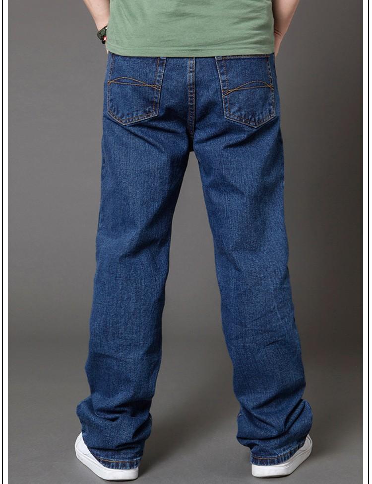 большой размер 28-50 мужчин зима осень грузы джинсы случайных деним открытый мужчин брюки спортивные прямой a0822
