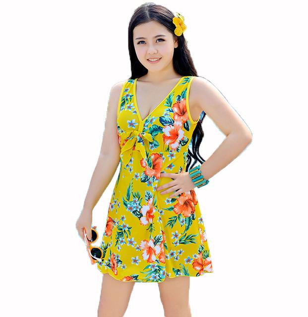 3XL-10XL 2016 hot Large plus size,oversize swimwear one-piece dress,spring summer women's swimwear,High waist swimsuit Swim suit