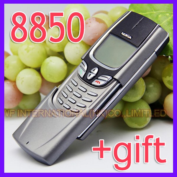 English Russian keyboard Original Nokia 8850 Mobile Phone Silver 2G GSM 900/1800 Unlocked 8850 Can't Use in USA(China (Mainland))