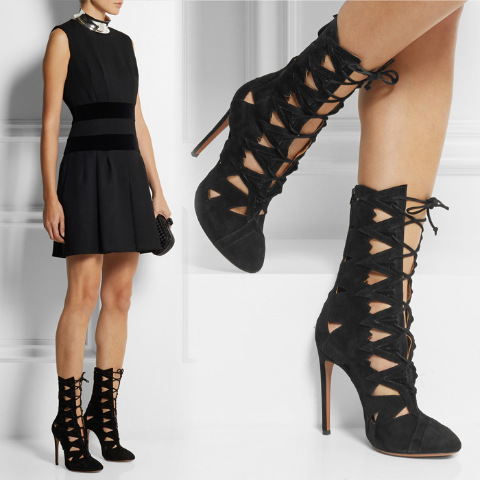2015 Fashion brand women sandal boots summer style punk cut- outs cross-tied sandals thin heels woman size 34-42 - Luxury Spikes Shoes Show store