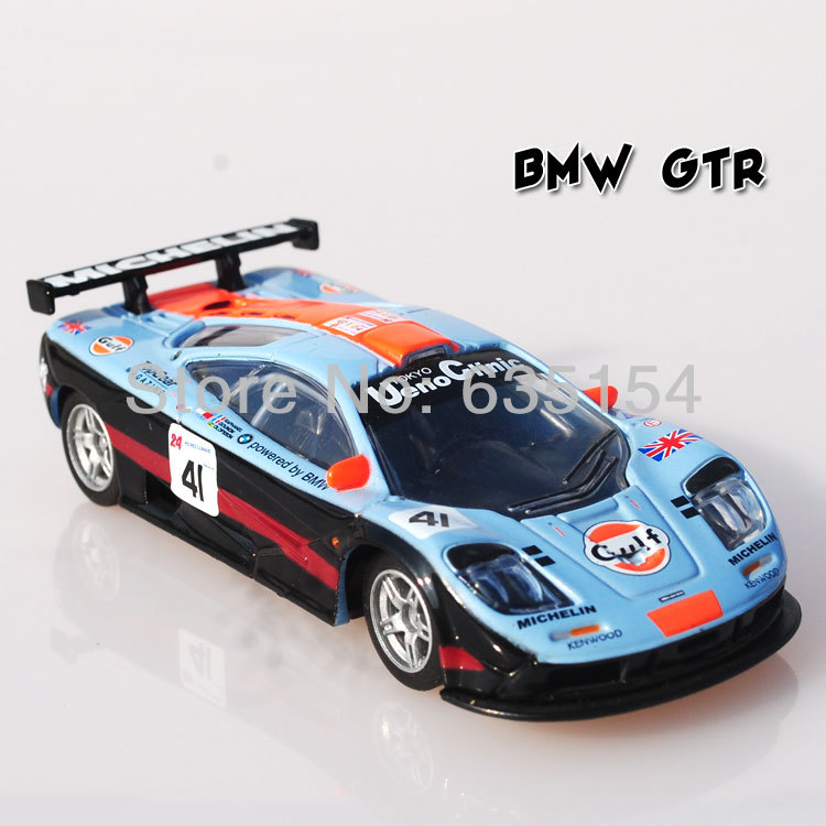 Free Shipping HIGH SPEED 1/43 Scale Mclaren F1 GTR Michelin #41 Racing Car Diecast Metal Model Car Toy For Children(China (Mainland))