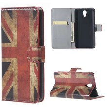 UK British Flag Flip PU Leather Wallet Stand Case Cover HTC Desire 620 - CYLTJTH store