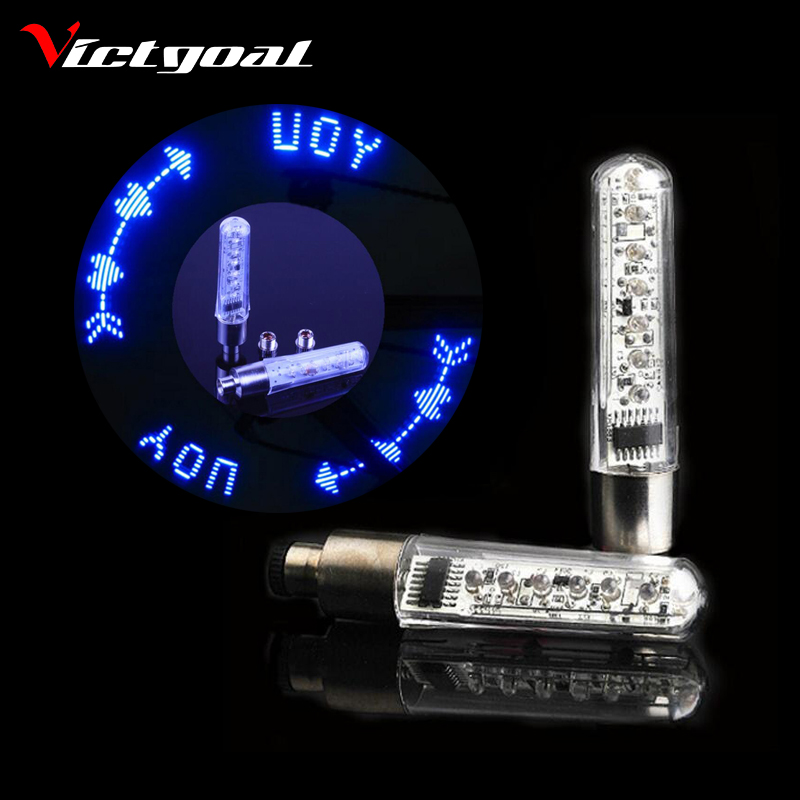 VICTGOAL Bike Light Tyre Tire Valve Caps Lights Spokes English Letter LED Wheel Cycling Mountain Bicycle Accessories Light N1052(China (Mainland))