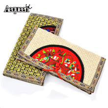 2016 New Spring Women Handmade National Wallet Embroider Purse Clutch Mobile Phone Bag Coin Bag Random Delivery Chinese Type(China (Mainland))