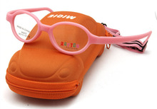 """Free Shipping """" Micra """"Brand Designer Pink Kids Glasses Carbon Fiber with Cute Car Case Kids Accessories Girls"""